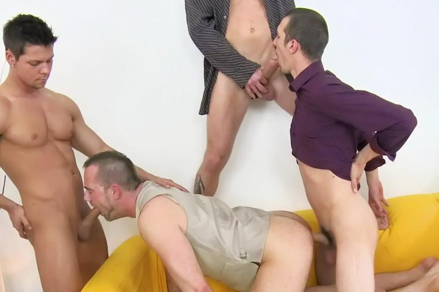bisexual group orgy